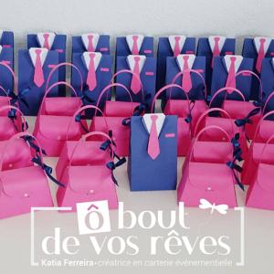 Boîtes à dragées sac et costume