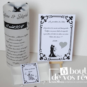 Déco mariage noir & blanc baroque