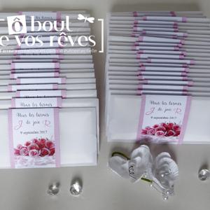 Pochette larmes de joie Mariage rose