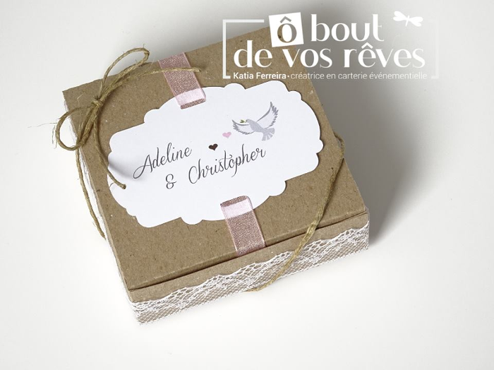Boite A Dragees Mariage Champetre O Bout De Vos Reves