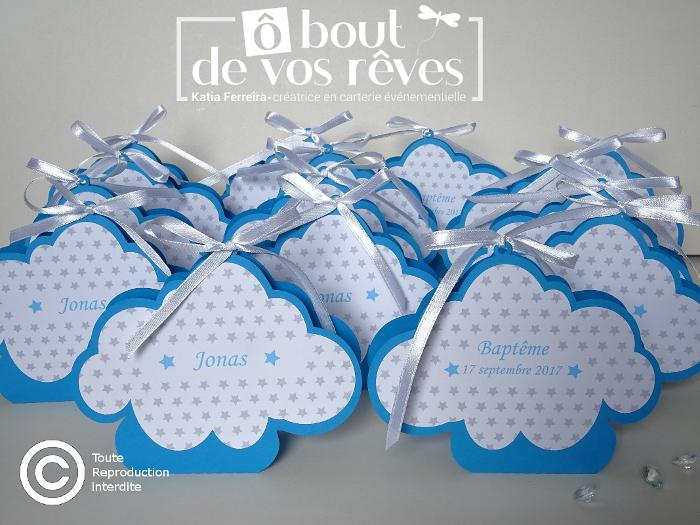 Boîte à dragées forme nuage
