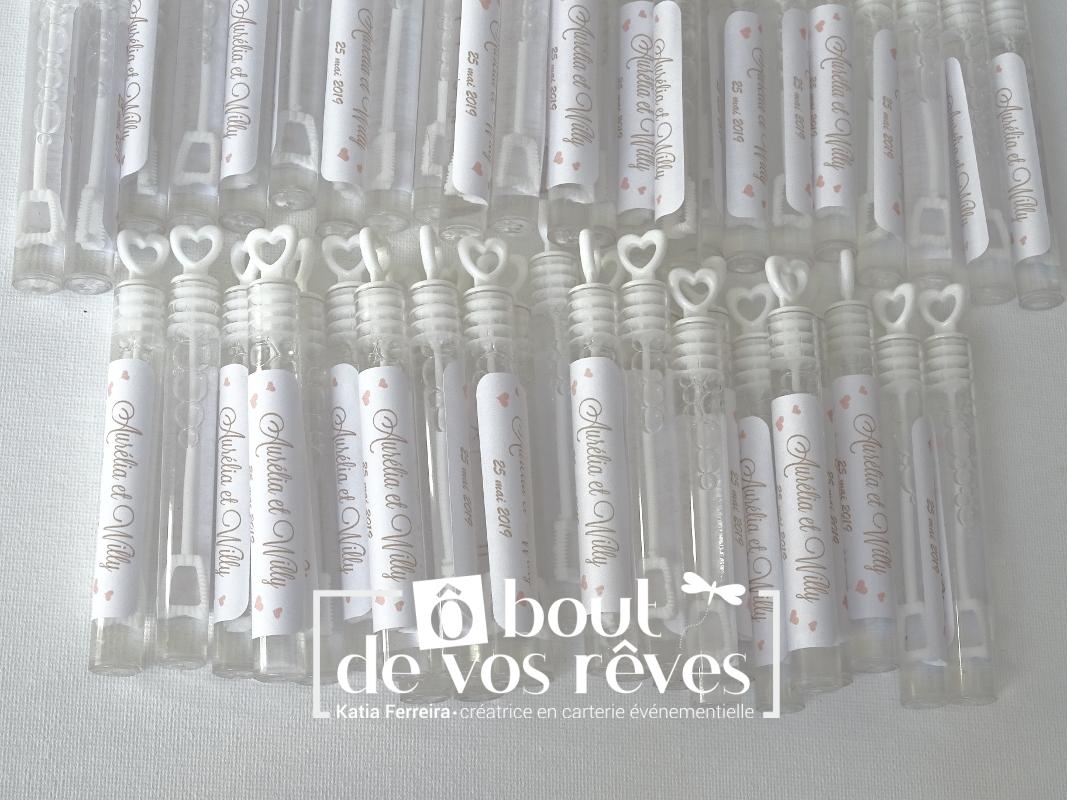 Etiquettes pêche pour flacon bulles