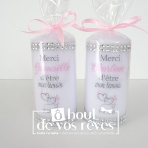Bougie témoin mariage